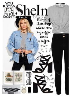 """Denin Jacket."" by mikaell-fw ❤ liked on Polyvore featuring T By Alexander Wang, River Island, Old Navy, Alexander McQueen, Chanel and Fallon"