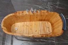 Natural Wood Bathtub – The Caveman's Guide Wood Bathtub, Man Cave Bathroom, Winter House, Made Of Wood, Home Depot, Natural Wood, Nature, Naturaleza, Off Grid