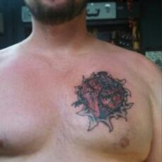 "Check out my new ink! Calling it ""Survivors Heart""  an original by Peter Boykin @ Dragon's Lair Tattoo in Muncie. Love this tat!"