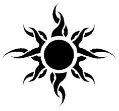 Sun Tribal Tattoo Design                                                                                                                                                      More