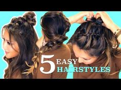 5 ★ LAZY Easy HAIRSTYLES for GIRLS Who's BAD AT HAIR ★ MakeupWearables Braids - YouTube