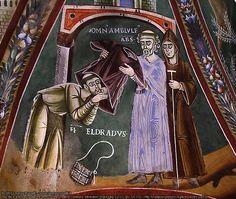 Sant'Eldrado entra in monastero, fine XI secolo, cappella di San Eldrado, Abbazia di Novalesa, San Pietro (TO)