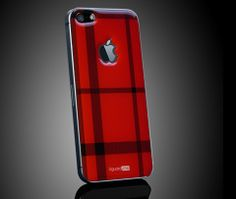 #red #tartan Tartan smart skin for iPhone 5/5S by uguard.me. Hottest fashion trend.