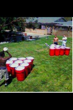 Extreme beer pong... is this the next Cabana Bar game?