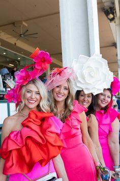 Derby Hats and Derby Style Return to Churchill Downs – Garden & Gun Kentucky Derby Fashion, Churchill Downs, Bridesmaid Dresses, Wedding Dresses, Derby Hats, Colorful Fashion, Fascinator, Gun, Inspiration