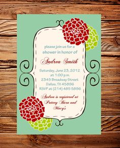 bridal shower invitation baby shower bridal by