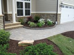 You can have a pavingstone entryway like this leading to your home! Click the photo to see more from Cambridge Pavingstones with Armortec.