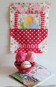 Great Granny Sew Along by PamKittyMorning, via Flickr, basket of yarn. I can visualize it as a pillow top of an Easter Basket full of Easter eggs.