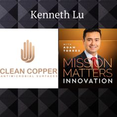Copper has been used for its antimicrobial properties since ancient times. In this episode, Adam Torres and Kenneth Lu, CEO and Founder at Clean Copper, explore modern day uses for copper and how using it in public places may decrease the spread of viruses Innovation, Public, Copper, How To Apply, Cleaning, Times, Explore, World, Places