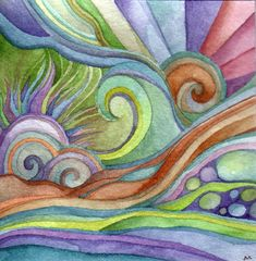 whimsical floral watercolors | Megan Noël's Watercolor Paintings
