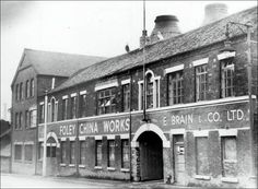The Foley China Works of E Brain & Co. Pottery factory exterior taken at the Foley China Works, Fenton Photo - pre 1978 © Staffordshire Past Track. Factory Architecture, Pottery Workshop, Old Pottery, Shop Buildings, Stoke City, Old Factory, Pink Depression Glass, Stoke On Trent, Old Photos