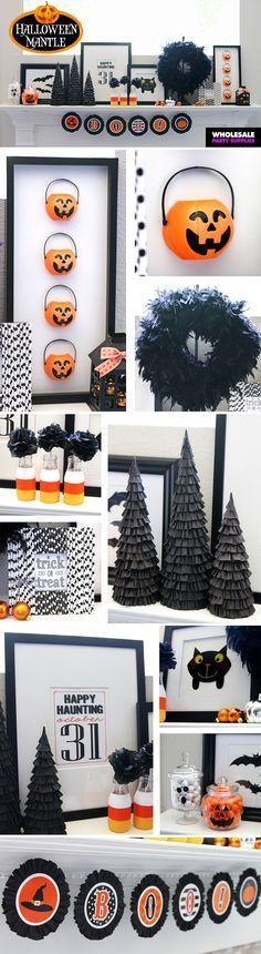 Deck your mantle for the Halloween season with these cutely creepy DIYs!