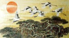 Chinese Crane Painting,92cm x 174cm,2352037-x