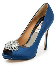 60262fb18ff5 Badgley Mischka Jeannie Peep Toe Pumps was  245.00 now  196.00 Silver  Platform Shoes