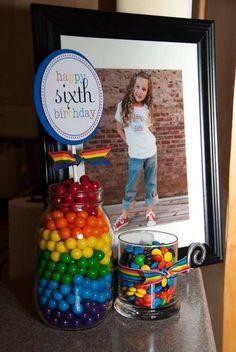 Rainbow Birthday Party Ideas | Photo 6 of 20 | Catch My Party