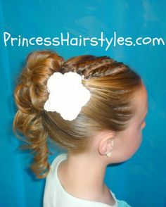 """Formal updo tutorial featuring twists and an upside down"""" braid."""