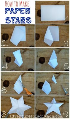 Diy Paper Stars - And you along with them. paper stars youve seen the tin stars that are sold everywhere for home decor. How To Make 3 D Paper Stars Diy Christmas. Folded Paper Stars, 3d Paper Star, Diy Christmas Star, Christmas Paper, Diy Christmas Tree Topper, Diy Tree Topper, Christmas Ideas, Holiday, Star Decorations