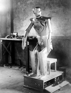 npr:  Before there was Star Wars C-3PO and the robot who famously warned of Danger Will Robinson! on TVs Lost in Space there was Eric  one of the worlds first real robots. He was built in 1928 less than a decade after the word robot was first used.  He wowed audiences in Britain where he was created and elsewhere in Europe and the United States. And then he disappeared.  Now a team from the Science Museum of London is planning to rebuild him using original archival materials. They have the…