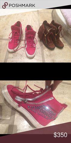 Giuseppe Zanott Pink sneakers 36 1/2 Pink GZ - new Giuseppe Zanotti Shoes Sneakers