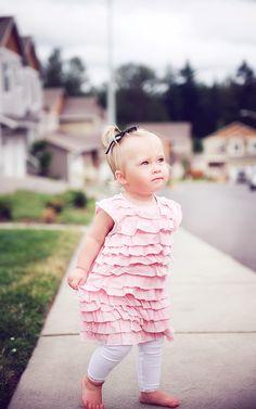 I HEART RUFFLES on baby girls!
