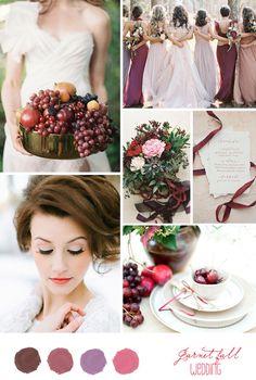 Inspiration Board: Dark Red Fall Wedding - Belle & Chic