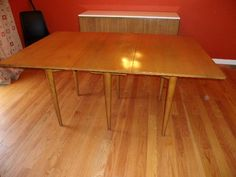 Mid Century Modern Russell Wright for Conant Ball Dropleaf Dining Table | eBay