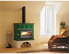 Palazzetti wood stove in green