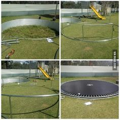 Built-in trampoline