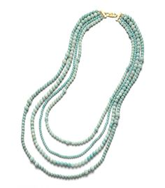 Tory Burch 4 Strand Beaded Stone Necklace