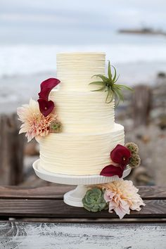 Boho Beach Wedding Inspiration: Malibu California | Vendors are Butteryend Cake | Meadows Events LLC | Roots and Stems Florals | Dress LeZu  shoot by @anokiart