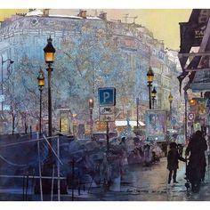 8th Arrondissement - Original sold - John Salminen