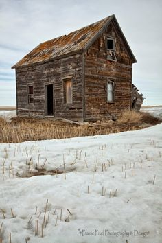 An abandoned old farmhouse near Dilke, Saskatchewan.