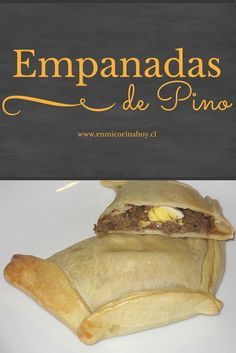 The most traditional Chilean empanada with the perfect dough and filling. Chilean Recipes, Chilean Food, Beef Empanadas, International Recipes, Tapas, Food And Drink, Cooking Recipes, Yummy Food, Favorite Recipes