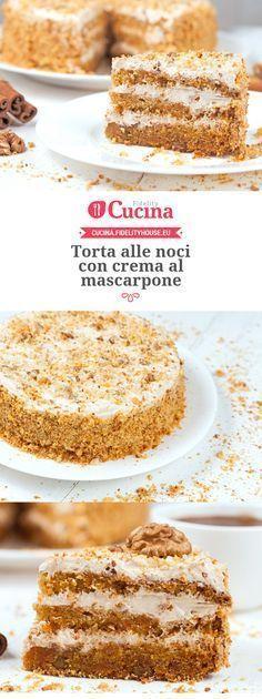 #Torta alle #noci con crema al #mascarpone
