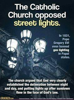 The Catholic church originally banned has lighting.