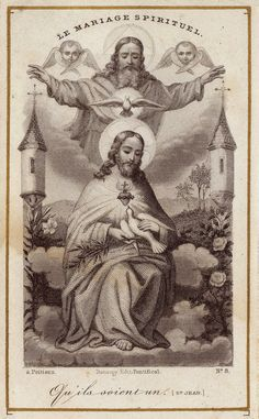 O my God, Trinity whom I adore, help me to become utterly forgetful of myself so that I may establish myself in you, as changeless and calm as though my soul were already in eternity. Let nothing disturb my peace nor draw me forth f from you, O my. Vintage Holy Cards, Vintage Art, Vintage World Maps, Life Of Christ, Jesus Christ, Prayer Cards, Prayer Box, Jesus E Maria, Trinidad