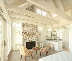 http://www.creativecottagesllc.com Oceanside Cottage Retreat. Big windows, fireplace, built ins..