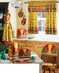 Your place to buy and sell all things handmade Cafe Curtains, Diy Curtains, Pattern Curtains, Simplicity Sewing Patterns, Vintage Sewing Patterns, Toaster Cover, Chair Back Covers, Appliance Covers, Easy Sewing Projects