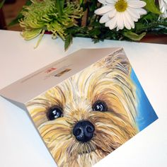 Yorkie - SPECIAL OFFER Blank Card - Proceeds to Charity. $2.00, via Etsy.