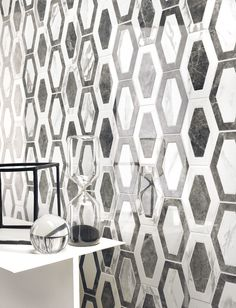 The look of the past is brought to life and modernized with our Michelangelo Elongated Hex Mosaic Natural Porcelain Tile in Apuano. These geometric shapes are ideal for Mid-century design with their retro flair! It retails for $29.99 SH.
