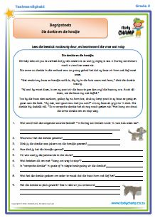 Begripstoets Graad 2/3 Afrikaans Language, Future Jobs, School Worksheets, Teaching Aids, Business For Kids, Kids Education, Diy For Kids, Homeschool, Classroom