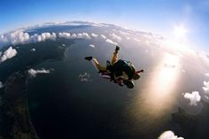 Usha Amudam jumps off a plane at 14000 ft in Melbourne!  http://www.cntraveller.in/content/skydiving-melbourne?id=0