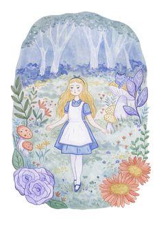 Kristin Olsen Askland on Behance Alice In Wonderland Illustrations, Alice In Wonderland Characters, Alice In Wonderland Book, Mock Up, Up Book, Alice Book, Freelance Graphic Design, Freelance Illustrator, Book Cover Design