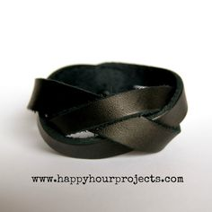 Happy Hour Projects: Braided Leather Cuff