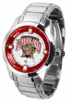 Maryland Terrapins UMD NCAA Mens Titan Steel Watch by SunTime. $121.95. This superb quality Titan Watch timepiece with Stainless Steel Band features a quartz accurate movement stainless steel band and your favorite collegiate logo. The Titan Steels stylish design enables you to express your loyal school spirit with a more formal flair.. Save 21% Off!