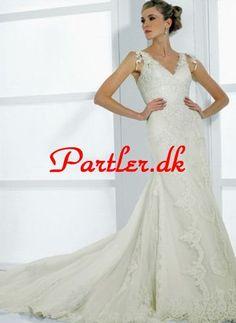 33cca97a030c Elfenben En Linje Straps Halsudskæring Brudekjoler Outdoor Wedding Dress