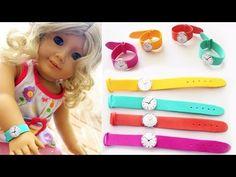 DIY | American Girl Doll Wrist Watch - Easy Doll Crafts - YouTube