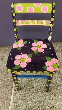 Painted girls chair