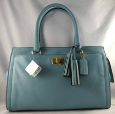 COACH Legacy Leather Chelsea Carryall in Robin's Egg Blue 25359