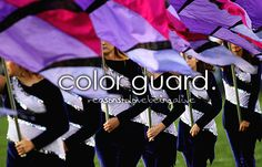 I have so much respect for the guard. They are the most hardworking group in the band and it shows in their performance. I just hope I can become a guard girl! Color Guard Quotes, Black Girl Problems, Flag Dress, Quotes That Describe Me, Band Nerd, Winter Guard, Love Band, Walgreens Photo